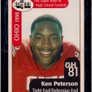 Big 33 Ohio 1998 Ken Peterson Football Card, cards