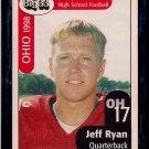Big 33 Ohio 1998 Jeff Ryan Football Card, cards