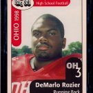 Big 33 Ohio 1998 DeMario Rozier Football Card, cards