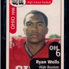 Big 33 Ohio 1998 Ryan Wells Football Card, cards