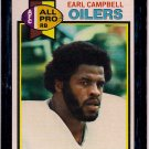 1979 Topps Earl Campbell Oilers #390 Rookie Football Card, cards