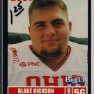 Big 33 Ohio 2001 Blake Dickson Football Card, cards