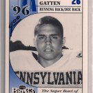 Big 33 Pennsylvania 1996 Aaron Gatten Football Card, cards