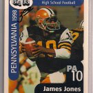 Big 33 Pennsylvania 1998 James Jones Football Card, cards