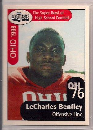 Big 33 Ohio 1998 LeCharles Bentley Football Card, cards