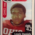 Big 33 Ohio 1998 Lewis Daniels Football Card, cards