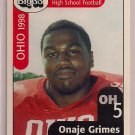 Big 33 Ohio 1998 Onaje Grimes Football Card, cards