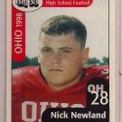 Big 33 Ohio 1998 Nick Newland Football Card, cards