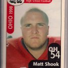 Big 33 Ohio 1998 Matt Shook Football Card, cards
