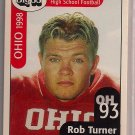 Big 33 Ohio 1998 Rob Turner Football Card, cards