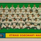 1961 Topps San Francisco Giants Team Batting and Pitching Record #167 Baseball Card, cards