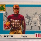 1955 Topps All American Ed Weir #3 Nebraska Football Card, cards