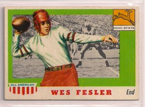 1955 Topps All American Wes Fesler #30 Ohio State Football Card, cards