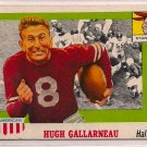 1955 Topps All American Hugh Gallarneau #75 Stanford Football Card, cards