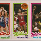 1980-81 Topps Kolff-Erving-Johnson #146 Basketball Card, cards