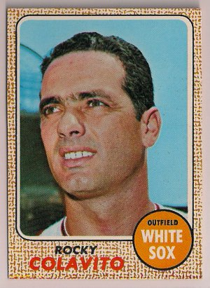 1968 Topps Rocky Colavito #99 Chicago White Sox Baseball Card, cards
