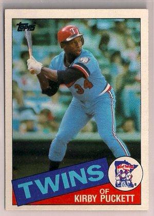1985 Topps Kirby Puckett #536 Minnesota Twins Rookie Baseball Card,cards