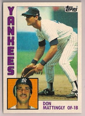 1984 Topps Don Mattingly #8 New York Yankees Rookie Baseball Card,cards