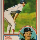 1983 Topps Wade Boggs #498 Boston Red Sox Rookie Baseball Card,cards