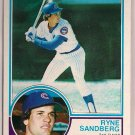 1983 Topps Ryne Sandberg #83 Chicago Cubs Rookie Baseball Card,cards