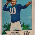 1954 Bowman Fred Enke #14 Baltimore Colts Football Card, cards