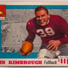 1955 Topps All American John Kimbrough #2 Texas A & M Football Card, cards