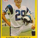 1967 Philadelphia Tommy McDonald #91 Rams Football Card, cards