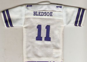 2005 Upper Deck White Mini Jersey #11 Drew Bledsoe Cowboys