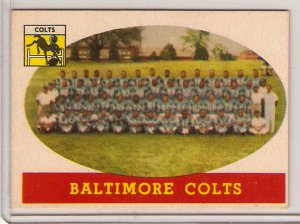 1958 Topps Baltimore Colts #110 Team Football Card, cards