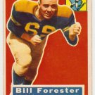 1956 Topps George William Forester Green Bay #79 Rookie Football Card, cards