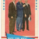 1961 Fleer Baker, Cobb, Wheat #1 Checklist Baseball Card, cards