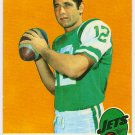 1969 Topps Joe Namath New York Jets #100 Football Card, cards