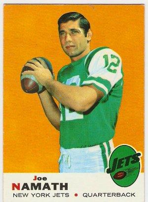 1969 Topps Joe Namath New York Jets #100 Football Card, cards