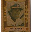 1982 Perma Graphics GOLD Super Star Rod Carew 1B California Angels  Card, cards