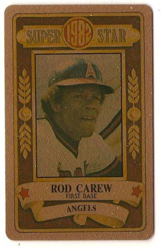 1982 Perma Graphics GOLD Super Star Rod Carew 1B California Angels  Card, cards