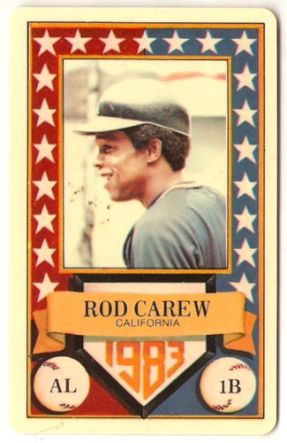 1983 Perma Graphics All Star Rod Carew 1B California Angels  Card, cards