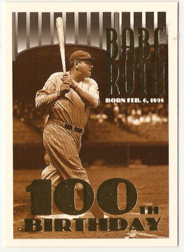 "1995 Topps George Herman ""BABE"" Ruth 100th Birthday #3 Card, cards"