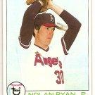 Nolan Ryan 1979 Topps #115 Angels Baseball Card, cards