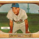 Billy Cox 1955 Bowman #56 Dodgers Very Good Baseball Card, cards