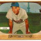 Billy Cox 1955 Bowman #56 Dodgers EXMT Baseball Card, cards