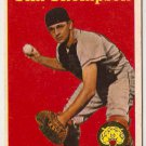 Tim (Charlie) Thompson 1958 Topps #57a (Yellow Letters) Detroit Tigers Baseball Card, cards