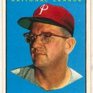 1961 Topps Jim Konstanty #479 Philadelphia Phillies Baseball Card, cards