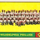 1961 Topps Philadelphia Phillies Team #491 Baseball Card, cards