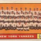 1961 Topps New York Yankees Team #228 Baseball Card, cards