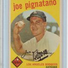 1959 Topps Joe Pignatano Los Angeles Dodgers Baseball Card, cards