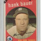 1959 Topps Hank Bauer New York Yankees Baseball Card, cards