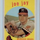 1959 Topps Joe Jay Milwaukee Braves Baseball Card, cards