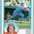 1983 Topps Pete Rose Philadelphia Phillies Baseball Card, cards