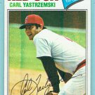 1977 Topps Carl Yastrzemski Boston Red Sox Baseball Card, cards