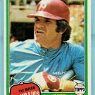 1981 Topps Pete Rose Philadelphia Phillies Baseball Card, cards
